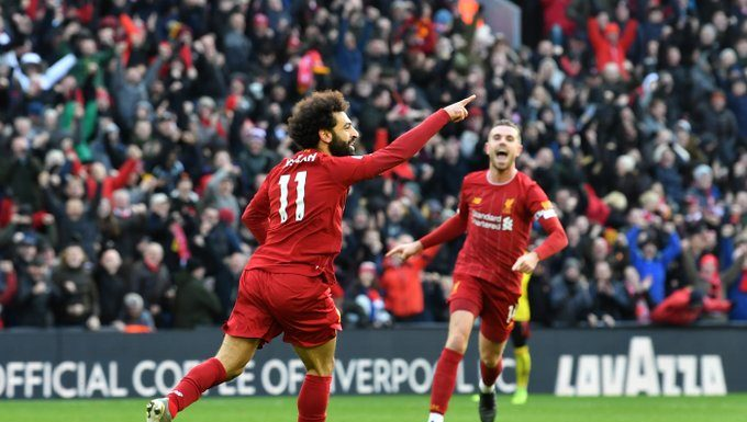 #LIVWAT: Mo Salah Leads Liverpool To Victory Against Watford