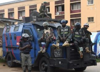 Chaos As Police In Armoured Tanks Invade Assemblies Of God Church, Chase Out Congregation