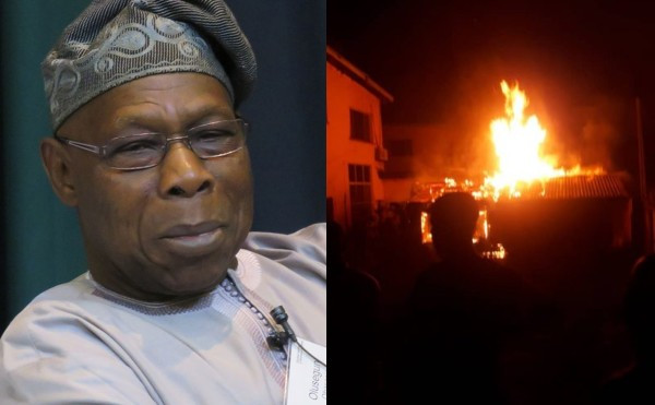 BREAKING NEWS: Obasanjo's House Gutted By Fire