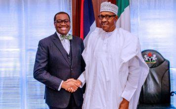 JUST IN: Buhari meets AfDB president, Adesina