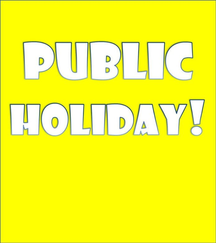 Government Declares Three Days Public Holiday This Week