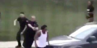 #Blacklivesmatter: Black Man Separating Two Fighting Women Shot 7 Times By Police Officer