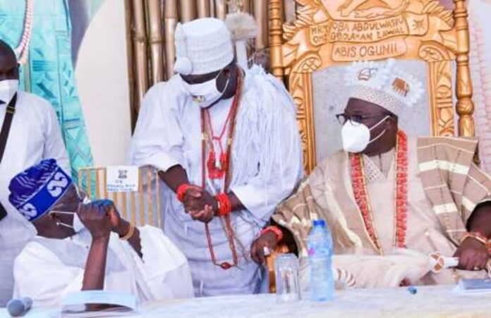 Mixed Reactions Trail Tinubu's Greeting Of Ooni At Oniru's Coronation