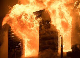 BREAKING: Fire Guts INEC Headquarters In Ondo State