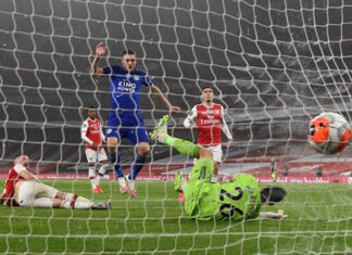 Vardy's Goal Gives Leicester Historic Win Against Arsenal