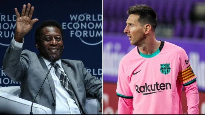 Santos: Messi Needs 448 More Goals To Break Pele's Record